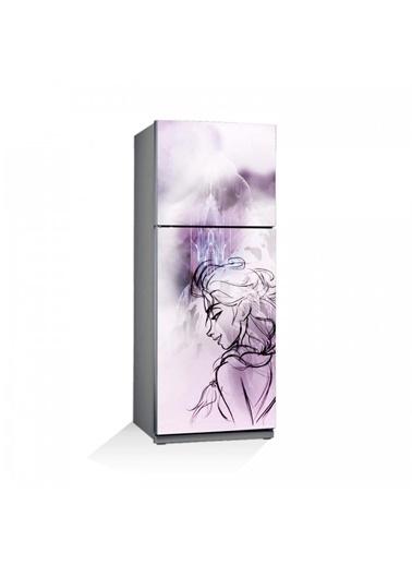 Disney Frozen-2 Buzdolabı Sticker Renkli